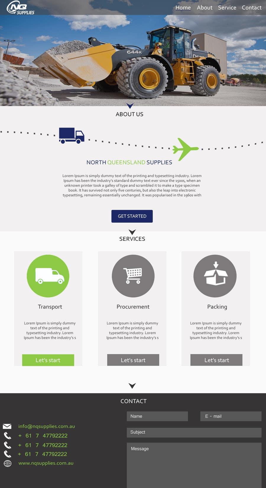 Participación en el concurso Nro.2 para Build a Website for North Queensland Supplies