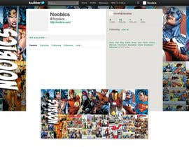#7 for Twitter Background for Noobics Blog af egreener