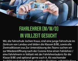#15 für Poster for job advertisement for a driving school von farkhanda1143
