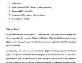 #15 для Research project on IRA от ArebaAccountant