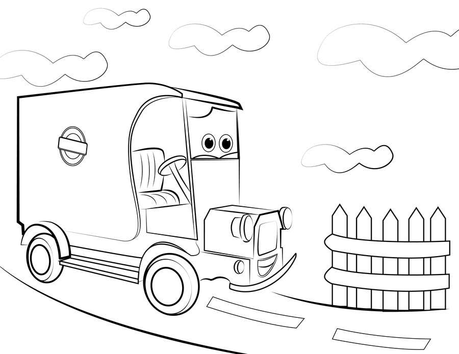 """Intrarea #12 pentru concursul """"Illistrate a cartoon version of our promo car - Kids Colouring in Competition"""""""