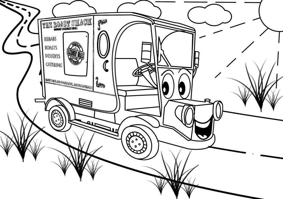 """Intrarea #7 pentru concursul """"Illistrate a cartoon version of our promo car - Kids Colouring in Competition"""""""