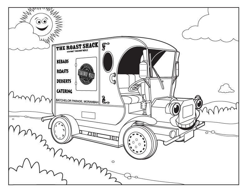 """Intrarea #31 pentru concursul """"Illistrate a cartoon version of our promo car - Kids Colouring in Competition"""""""