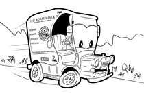 "Graphic Design Intrarea #17 pentru concursul ""Illistrate a cartoon version of our promo car - Kids Colouring in Competition"""