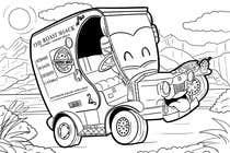 "Graphic Design Intrarea #48 pentru concursul ""Illistrate a cartoon version of our promo car - Kids Colouring in Competition"""
