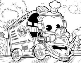 Nro 44 kilpailuun Illistrate a cartoon version of our promo car - Kids Colouring in Competition käyttäjältä satherghoees1