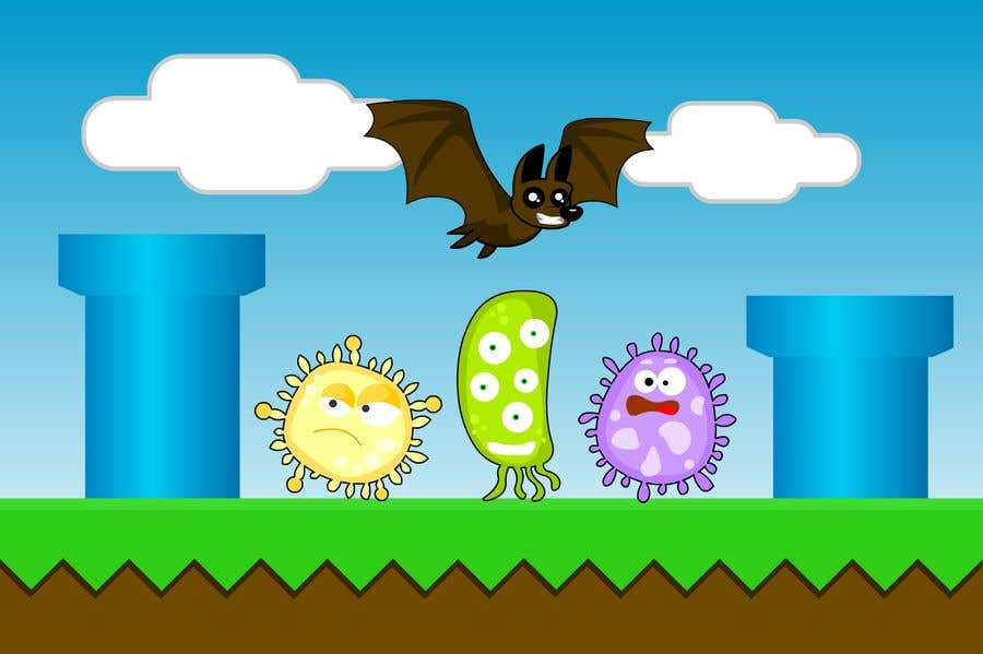 Contest Entry #                                        2                                      for                                         2D fly animation Batt + 2D die animation virus.