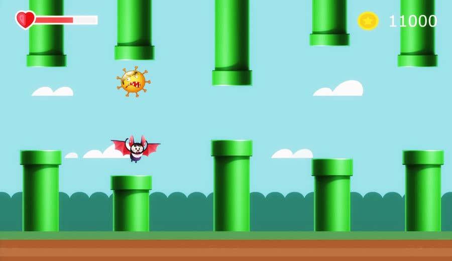 Contest Entry #                                        8                                      for                                         2D fly animation Batt + 2D die animation virus.
