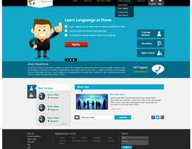 #5 for http://www.fluentfuture.com/ - language exchange home page design by jeransl