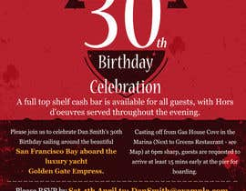 #58 for Design a 30th Birthday Invite by fastidea