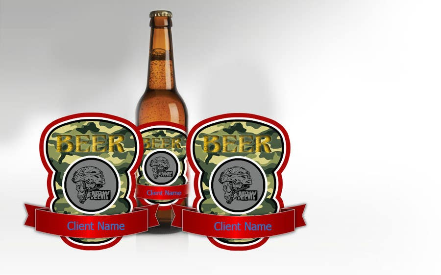 Intrare concurs #14 pentru Beer Label - Army Military Theme