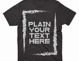 #80 para design t-shirt templates for personalized text shirts de alihaskara