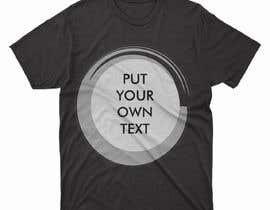 #84 para design t-shirt templates for personalized text shirts de alihaskara