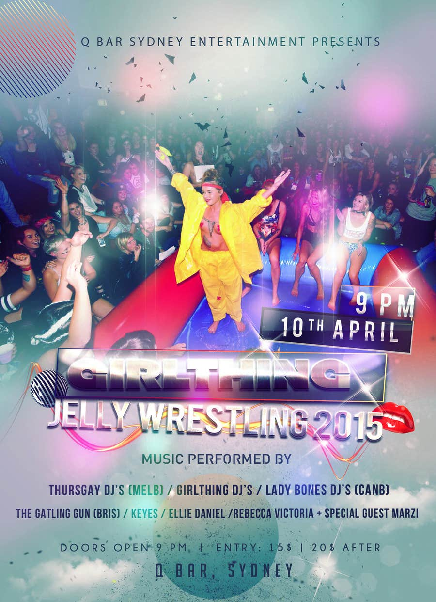 Penyertaan Peraduan #27 untuk Design a Flyer for Jelly Wrestling Competition
