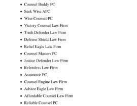 #82 untuk Help choose a name for a Law Firm oleh joyoby