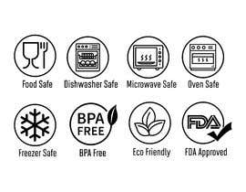 #24 for Create 8 food safe symbols for packaging by rounitrakesh365