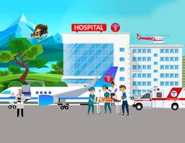#12 for Illustration for a theme:  Hospital Jets Crashing by akmmusa