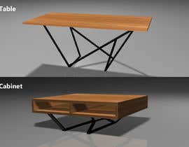 #35 for 3D project for dining table and cabinet TV | Loft Furniture render by kaushalyasenavi