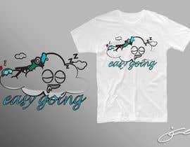 #54 untuk T-Shirt Design (Cloud with a face + little stick figure with skateboard) oleh jcblGD