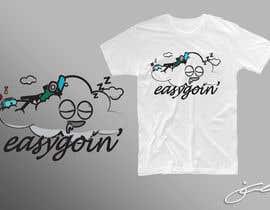 #55 untuk T-Shirt Design (Cloud with a face + little stick figure with skateboard) oleh jcblGD
