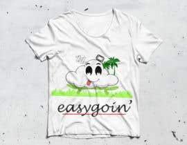 #15 untuk T-Shirt Design (Cloud with a face + little stick figure with skateboard) oleh TFComplex