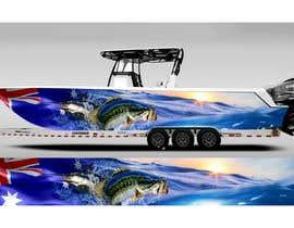 Nro 26 kilpailuun Graphic design for boat wraps käyttäjältä DikaWork4You