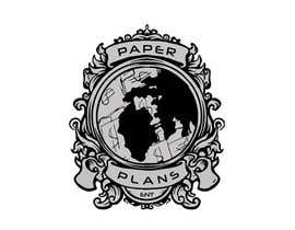 """#10 for I need a skilled graphic designer to take this already made logo and improve it and add unique designs and improvements to it to make it stand out with the top brands. keep it black and white and add unique improvements Brands called """"Paper Plans"""". by Mirfan7980"""