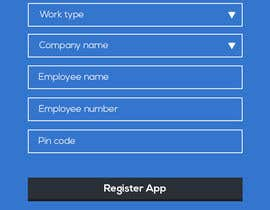 #6 untuk App Mockup for App Check-in and Registration Screen oleh pvaghela86