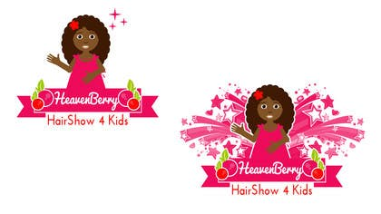 #4 untuk Design a Logo for The HeavenBerry Hair Show 4 kids oleh picitimici