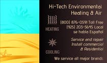 Graphic Design Kilpailutyö #1 kilpailuun Business Card Deign for Heating & Air Conpany