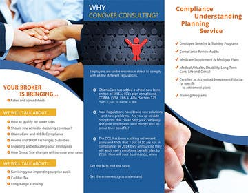 #51 for Design a Brochure for Conover Consulting by ChKamran