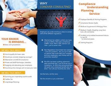 Nro 51 kilpailuun Design a Brochure for Conover Consulting käyttäjältä ChKamran
