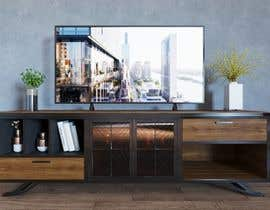 KeiLam tarafından Cabinet TV 3D model - LOFT FURNITURE Steel and natural OAK için no 141