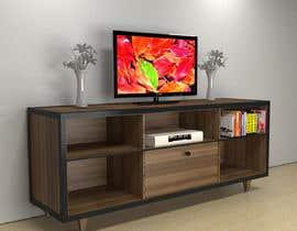deep075 tarafından Cabinet TV 3D model - LOFT FURNITURE Steel and natural OAK için no 157