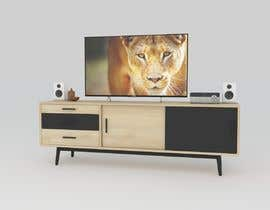 kaushikankur50 tarafından Cabinet TV 3D model - LOFT FURNITURE Steel and natural OAK için no 140