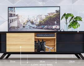 robmendz08 tarafından Cabinet TV 3D model - LOFT FURNITURE Steel and natural OAK için no 133