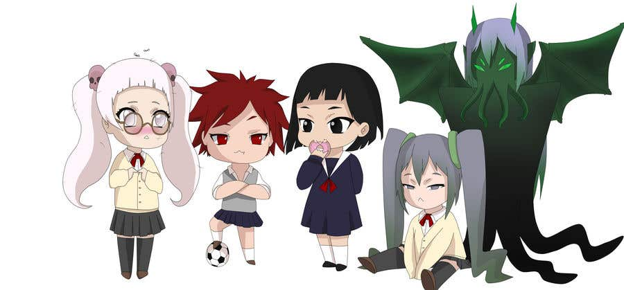 Penyertaan Peraduan #                                        45                                      untuk                                         We need the best\cutest\funnest Chibi character art for a children's cartoon based on mythological characters in modern day.