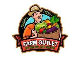 "#177 para Contest - Logo for retail store ""Farm Outlet"" de cyberlenstudio"