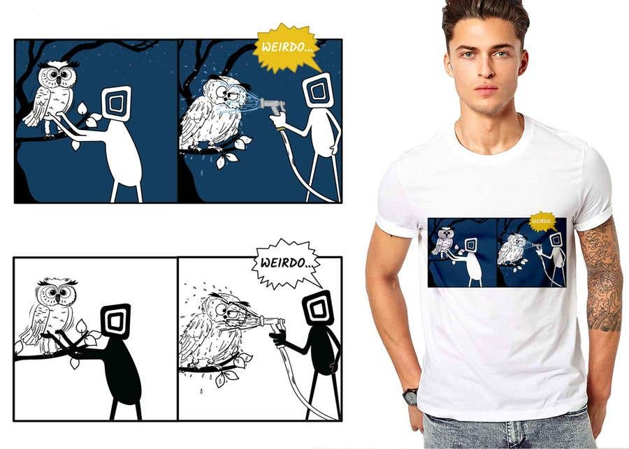 Penyertaan Peraduan #                                        39                                      untuk                                         Design for T-Shirt/Hoodie (Stick man and an owl details in descripition