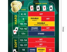 #13 cho Print graphic design Blackjack Strategy Card bởi Qomar