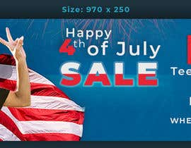 #8 for Create 4th of July banner for website by mdjahirul80