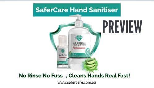 Kilpailutyö #                                        7                                      kilpailussa                                         Animation 15 seconds showing benefits of using hand sanitizer