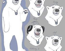 #51 for Design a cartoon character: cute metalhead polar bear by StefaniaSaftoiu