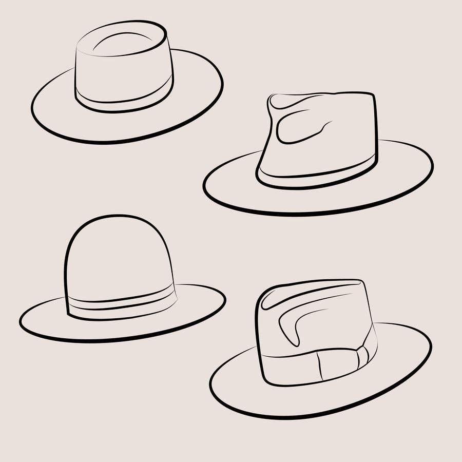 Kilpailutyö #                                        12                                      kilpailussa                                         Simple Hat Sketches