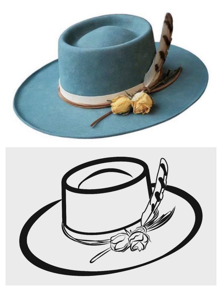 Kilpailutyö #                                        13                                      kilpailussa                                         Simple Hat Sketches