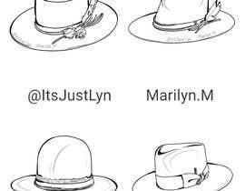 Nro 18 kilpailuun Simple Hat Sketches käyttäjältä ItsJustLyn