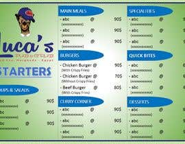 #15 cho Design me an editable Sports Pub Food Menu bởi qmrhbbs