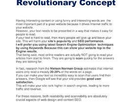 Nro 10 kilpailuun I´m selling a powerfull and revolucionary concept that I have created, a privileged position in internet. käyttäjältä Suryasugano6