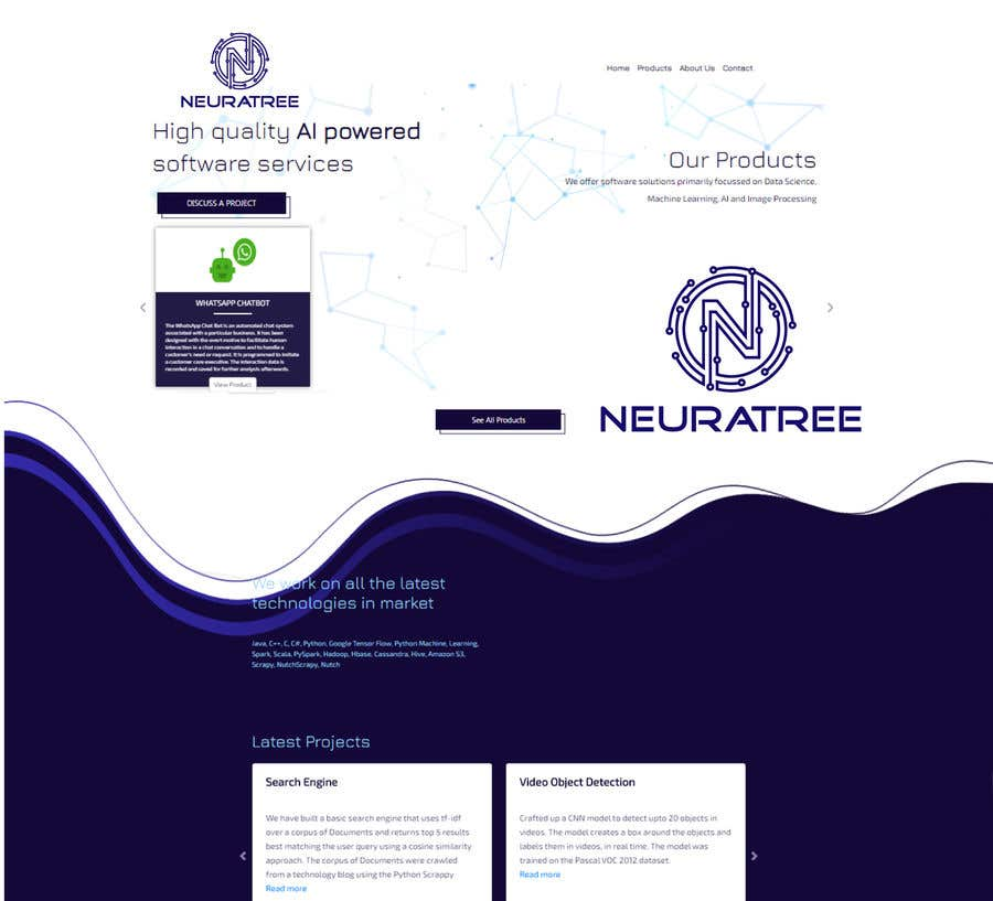 Penyertaan Peraduan #                                        195                                      untuk                                         Logo and Icon Design for a Technology Website (Neuratree) : Original logo