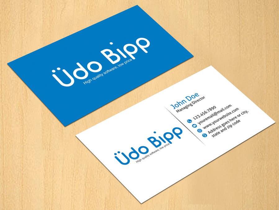 Penyertaan Peraduan #65 untuk Design some Business Cards for Udo Bipp